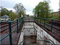 NN3039 : Bridge of Orchy station exit underpass by John Lucas