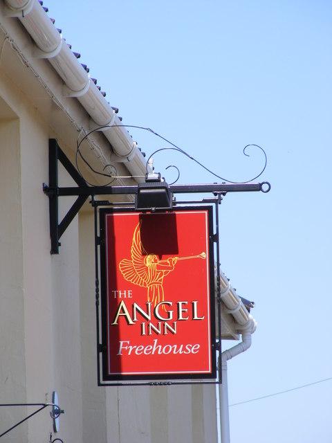 The Angel Inn sign