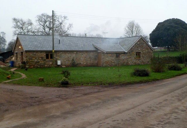 Recently converted former farm building, Mathern