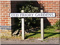 TM4679 : Old Priory Gardens sign by Adrian Cable