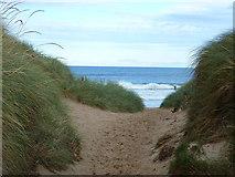 NU2422 : Path Through the Dunes to Embleton Bay by Richard Cooke