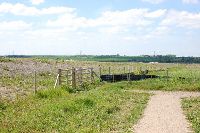 Path in Thurrock Thameside Nature Park