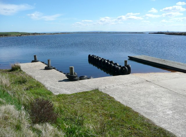 Landing stage on Haigh Cote Dam
