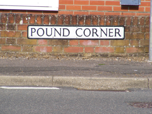 Pound Corner sign