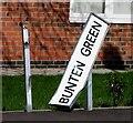 SK6206 : Bunten Green sign by Andrew Tatlow