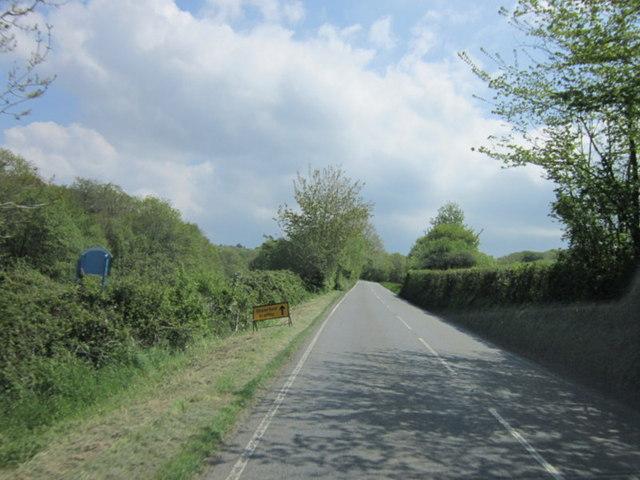The A389 towards Bodmin