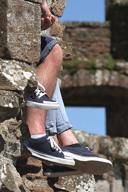 Resting at Caerlaverock Castle
