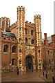 TL4458 : St.John's College Gatehouse by Richard Croft