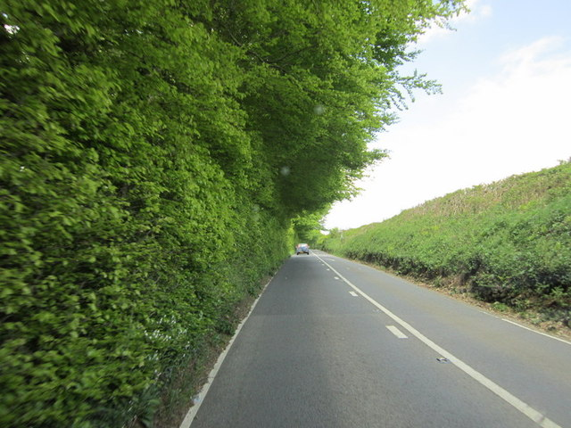 The A390 towards St Ive