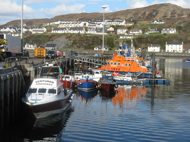 Mallaig Harbour and Lifeboat