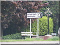 TG3309 : Blofield Village sign & roadsigns by Adrian Cable