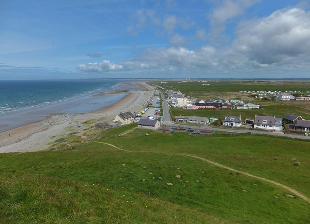 Dinas Dinlle from the hill fort