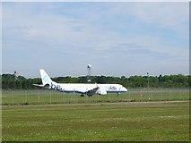 NT1473 : Flybe aircraft, Edinburgh Airport by Jim Barton