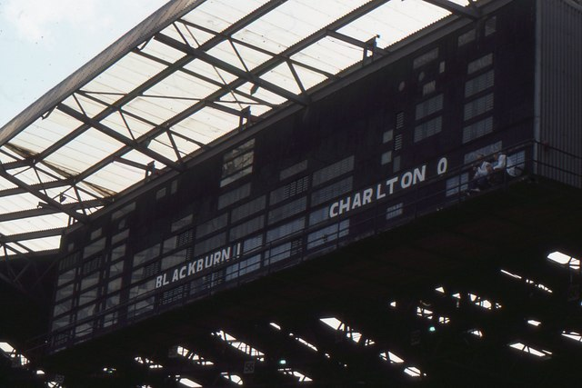 Wembley stadium: the old stadium scoreboard