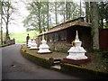 NT2400 : Mini-stupas outside a prayer wheel pavilion by Stanley Howe