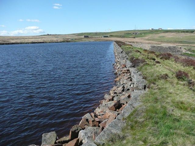 Footpath alongside Haigh Cote Dam