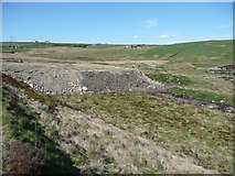 SE0429 : Land fill at Haigh Cote Dam by Humphrey Bolton