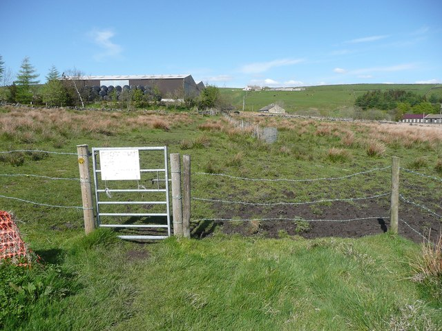 Gate on the Calderdale Way at Moor Side