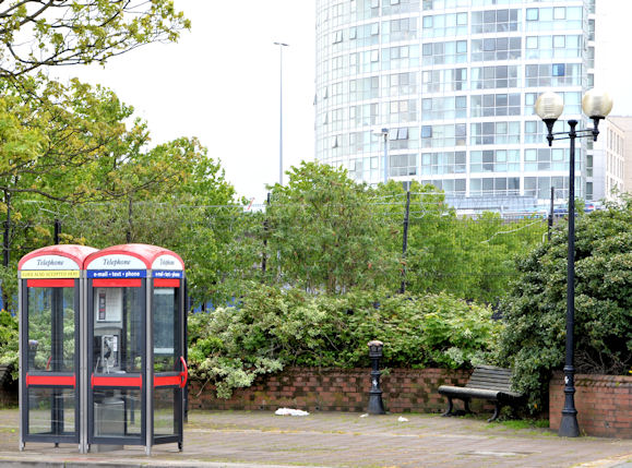 Two telephone boxes, Belfast