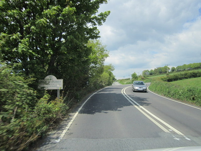 The A390 near Hanging Cliff Wood