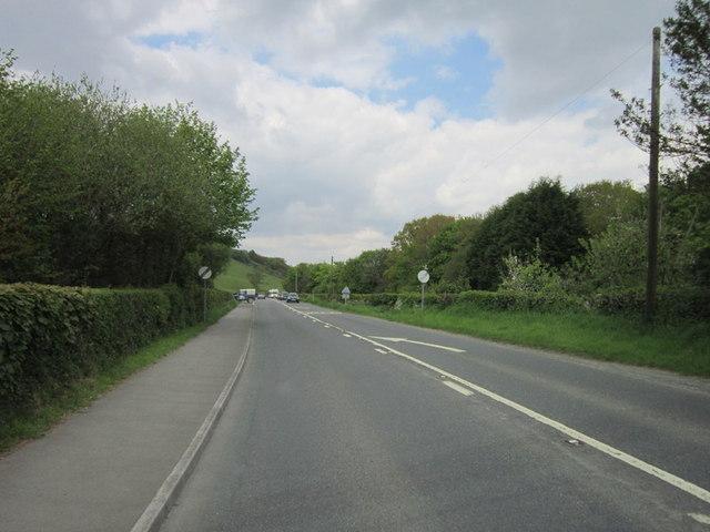 The A386 near Higher Hazeldon Bridge
