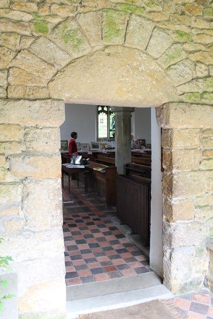 Norman door, St Luke's church