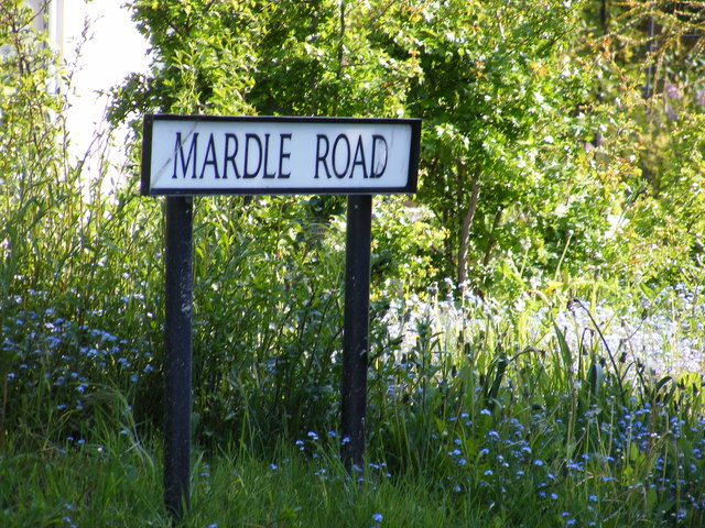 Mardle Road sign