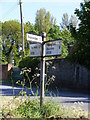 TM4878 : Roadsign on the B1126 Wangford Road by Adrian Cable