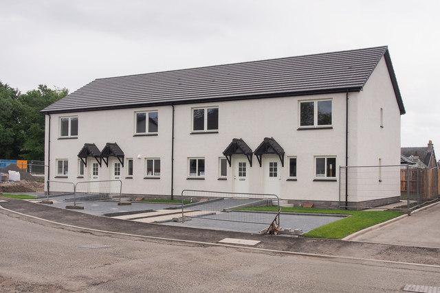 New houses on the Balgarvie development, Scone