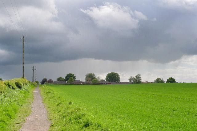 Rain shower approaching