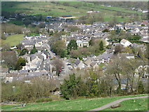 SK1482 : Castleton: the village from the castle by Chris Downer