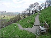 SK1482 : Castleton: path to Peveril Castle by Chris Downer