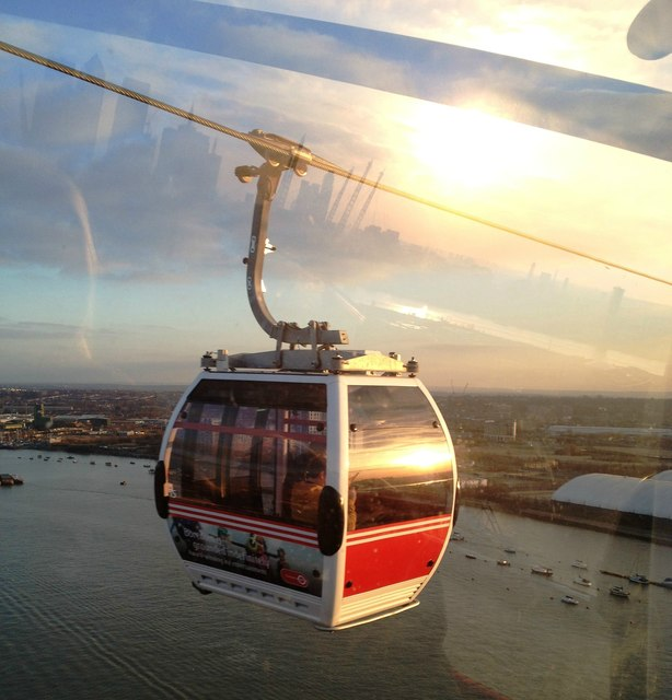 Emirates Airline cable car, East London