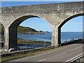 NM7284 : Loch nan Uamh through the viaduct by M J Richardson