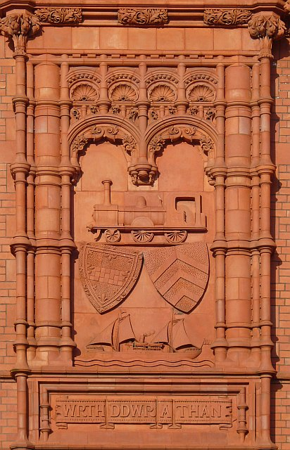 Coat of  Arms, Pierhead Building, Cardiff Bay