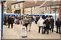SK9771 : Steep Hill market by Richard Croft