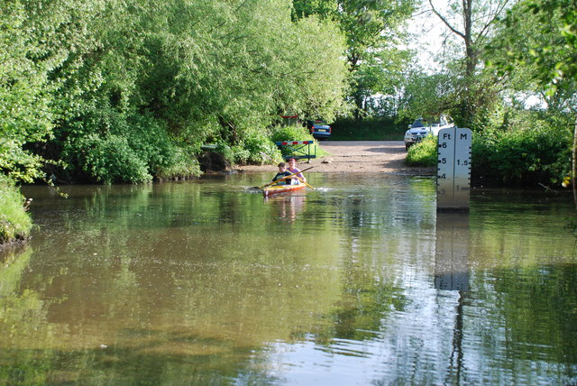 Canoeists at Thatcher's Ford