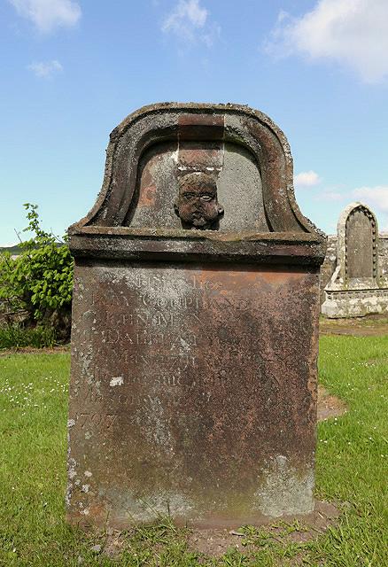 A headstone in Buittle Old Kirkyard
