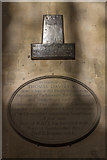 SP0202 : Memorial to Thomas Davies KT, St John the Baptist, Cirencester, Gloucestershire by Christine Matthews
