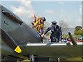 SD6342 : Chipping Steam Fair, Replica Spitfire by David Dixon