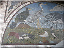 NY2262 : Mosaic at the Path Pavilion, Bowness-on-Solway (west) by David Purchase