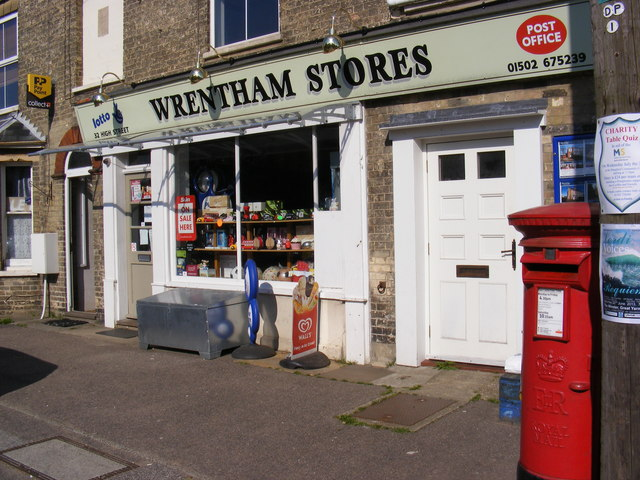 Wrentham Stores & High Street Post Office Postbox