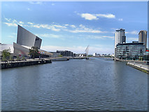 SJ8097 : Manchester Ship Canal, MediaCityUK by David Dixon