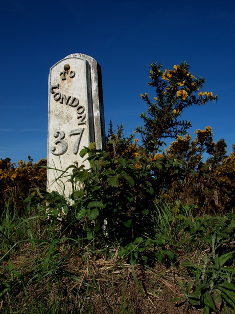 Milepost north of Duddleswell