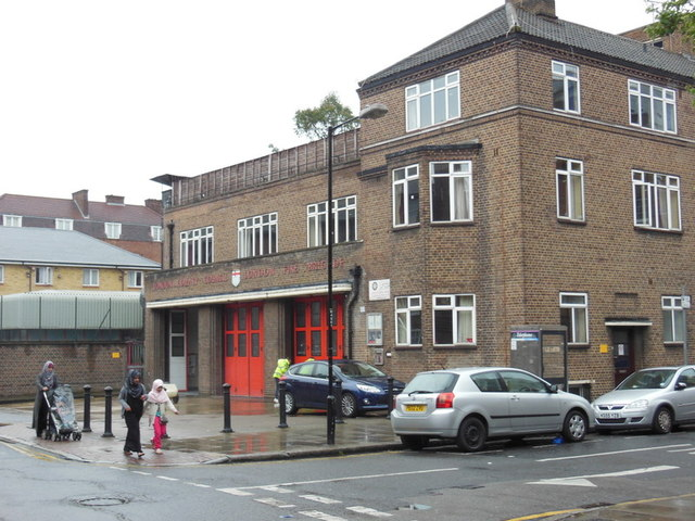 Shadwell Fire Station on Cable Street, London
