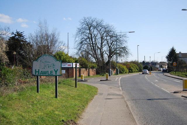 A225 entering Hawley
