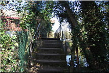TQ5571 : Footbridge over the River Darent by N Chadwick