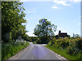 TM3585 : Entering Ilketshall St.Margaret on The Street by Adrian Cable
