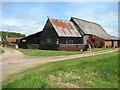 TM4194 : Barns by Bull's Green Farm by Evelyn Simak