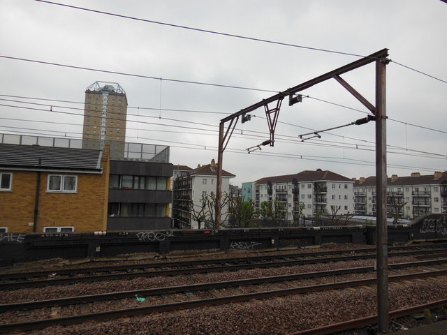 Looking North from Shadwell DLR Station